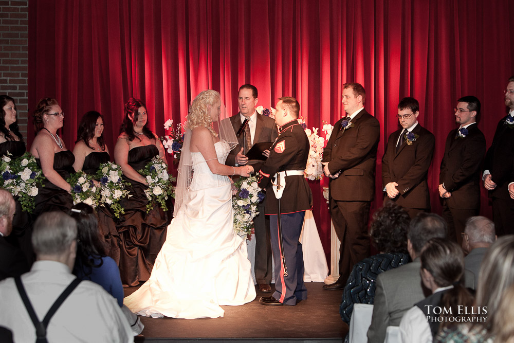 Seattle weding ceremony at the Georgetown Ballroom