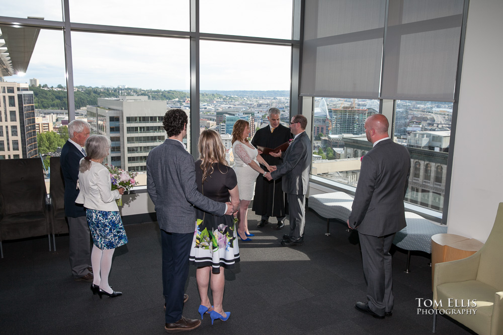 Photo from a wedding at the Seattle Municipal Courthouse