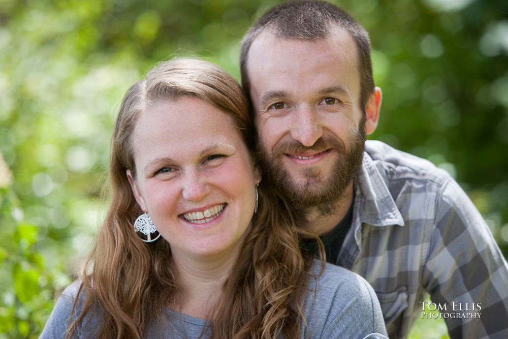 Seattle area engagement photo, close up photo of Rachel and Dan