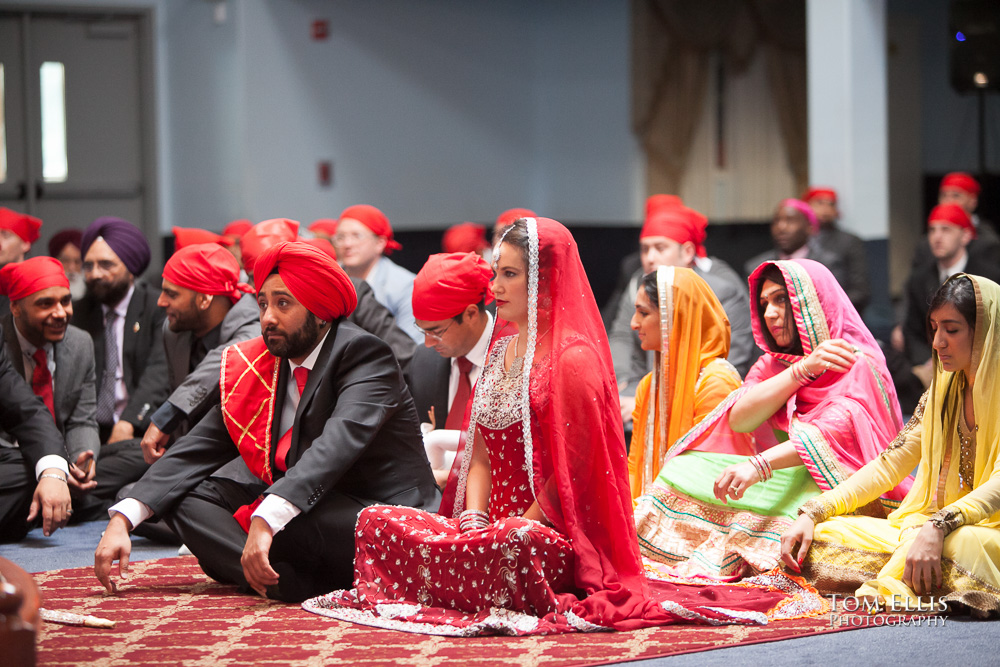 Sikh Indian bride and groom during their wedding ceremony