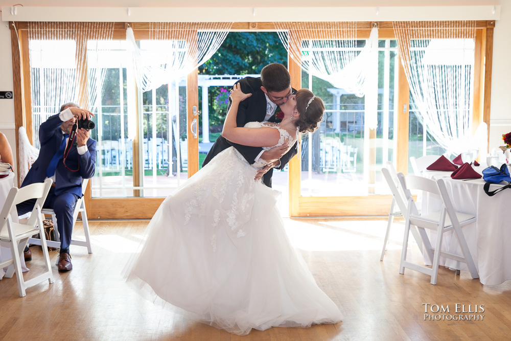 French Creek Manor wedding - first dance for bride and groom