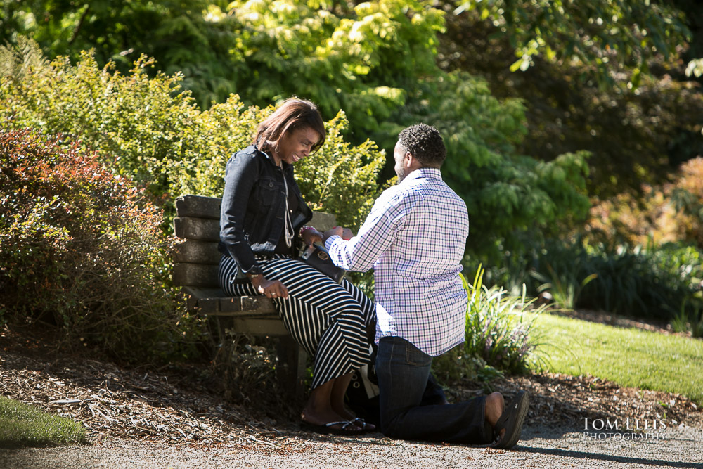 Surprise Proposal - Brian proposes to Teresa in the Kubota Garden in Seattle