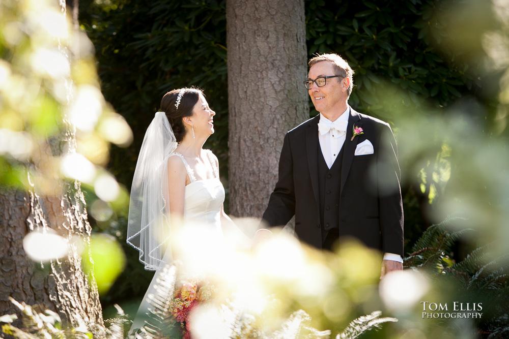 Century Ballroom Wedding Bride And Groom In The Woods At Volunteer Park