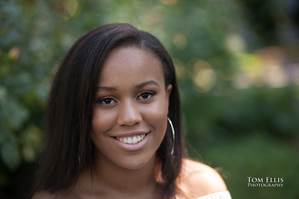 Close up photo of beautiful high-school senior girl