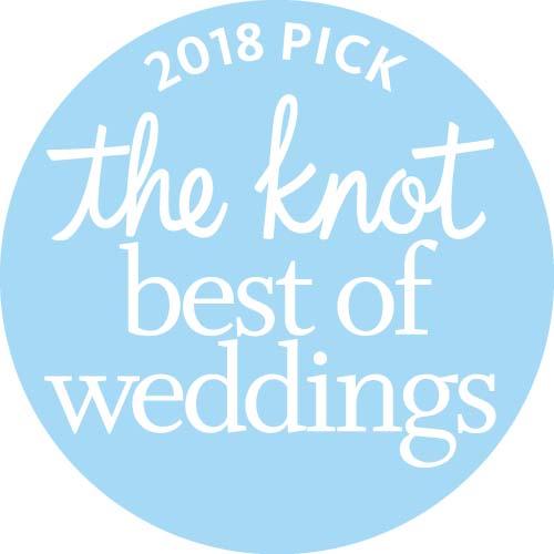 Knot Best of Weddings 2018 award badge