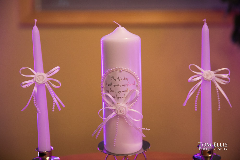 Unity Candle for the wedding ceremony of Elizabeth and Peter