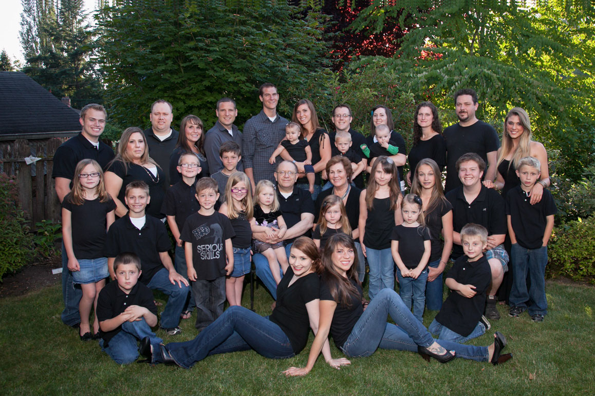Rowe family photo session at their home in Bellevue WA
